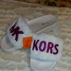 CUSTOMIZED HAND MADE MK SLIPPERS
